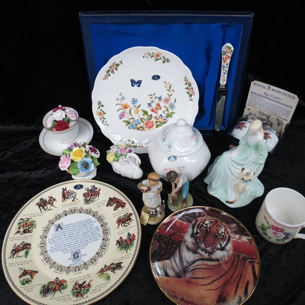 A pair of Royal Worcester egg coddlers and a Countess