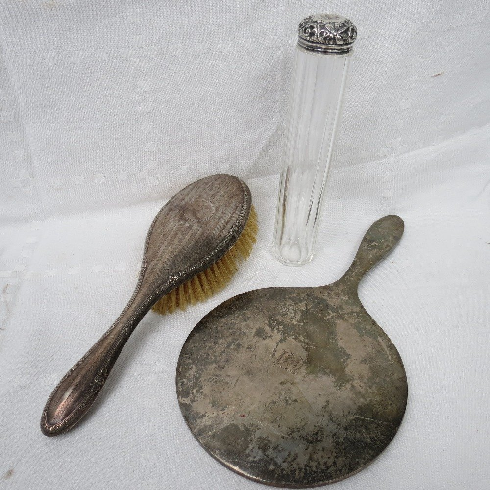 A hallmarked silver backed lady's hairbrush, Birmingham