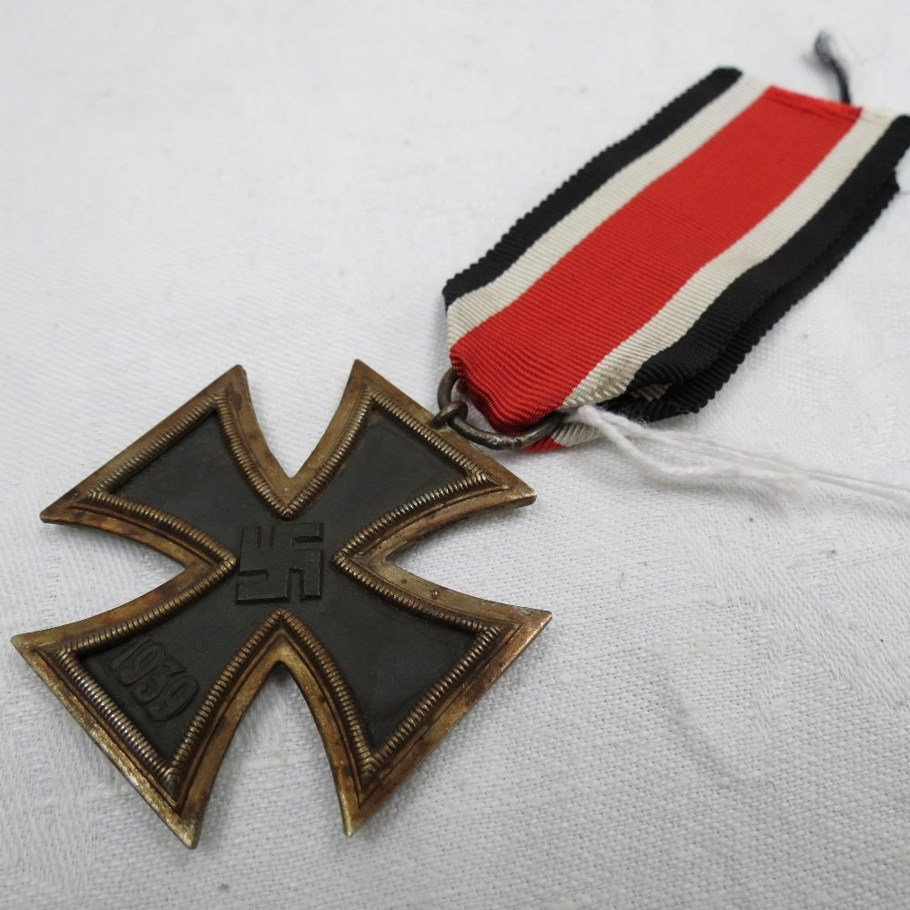 A WWII German Iron Cross, Second Class on ribbon.