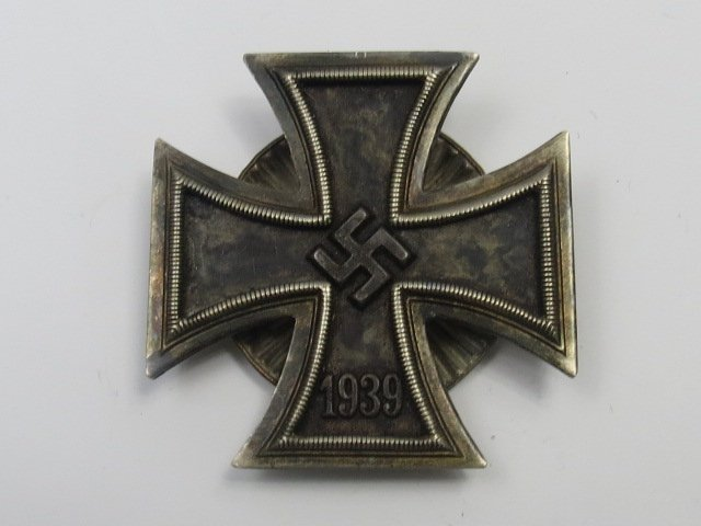 A Nazi Iron Cross with a screw back, First Class.
