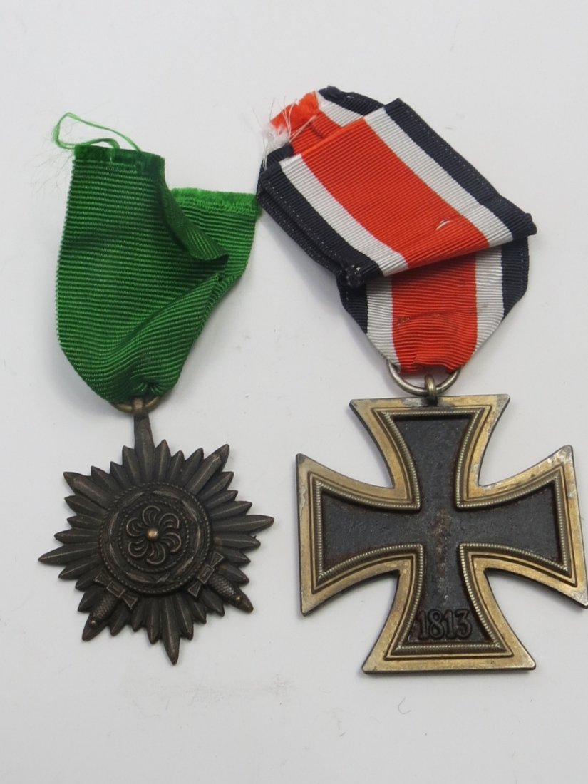An Nazi Iron Cross, Second Class with medal ribbon,