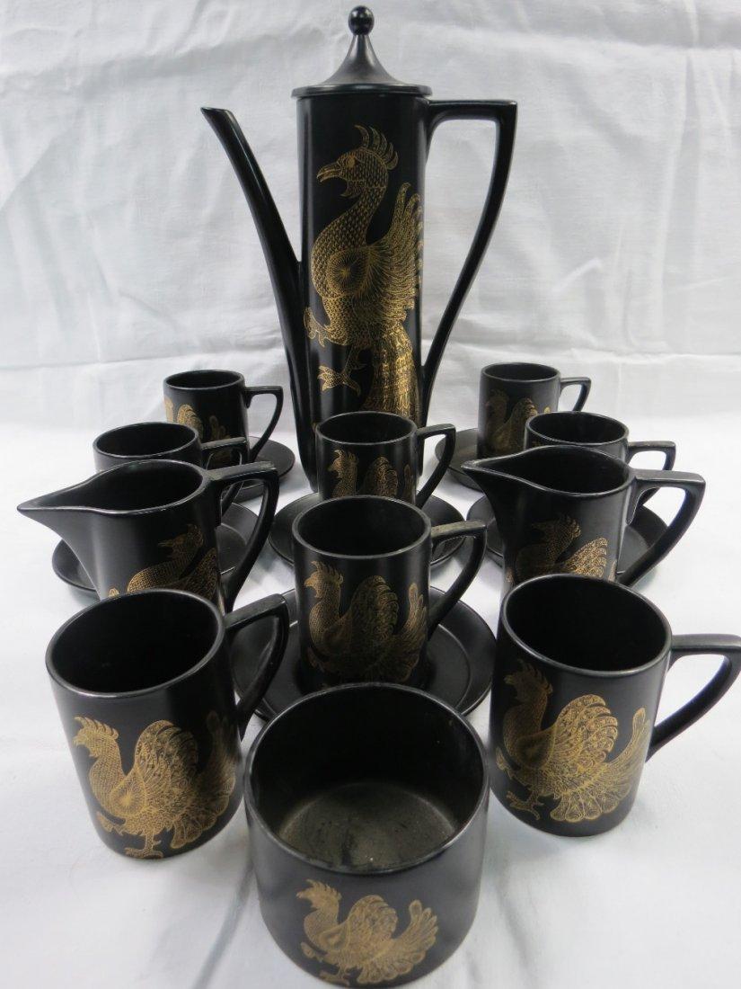 A Portmeirion phoenix 18 piece coffee set c. 1970,