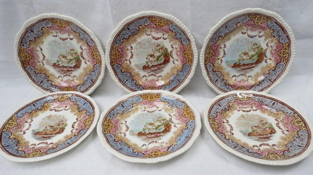 A set of six late 19thC. Copeland plates,