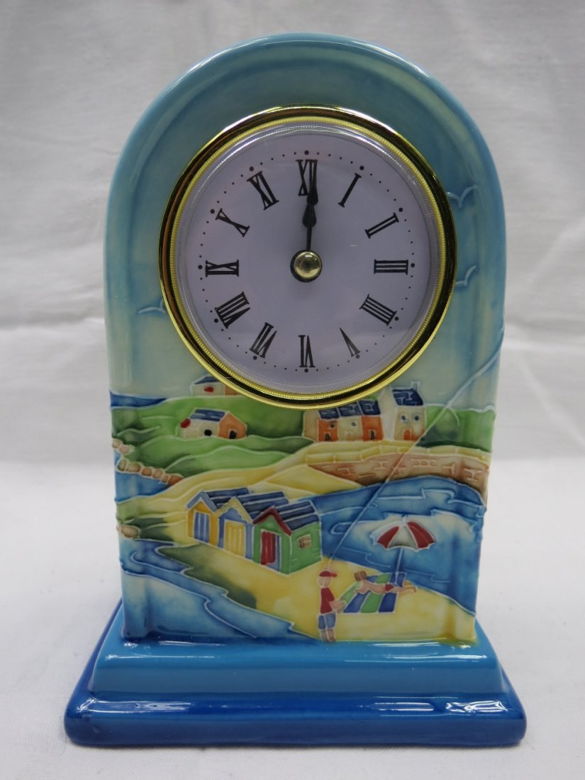 An old Tupton ware mantel clock