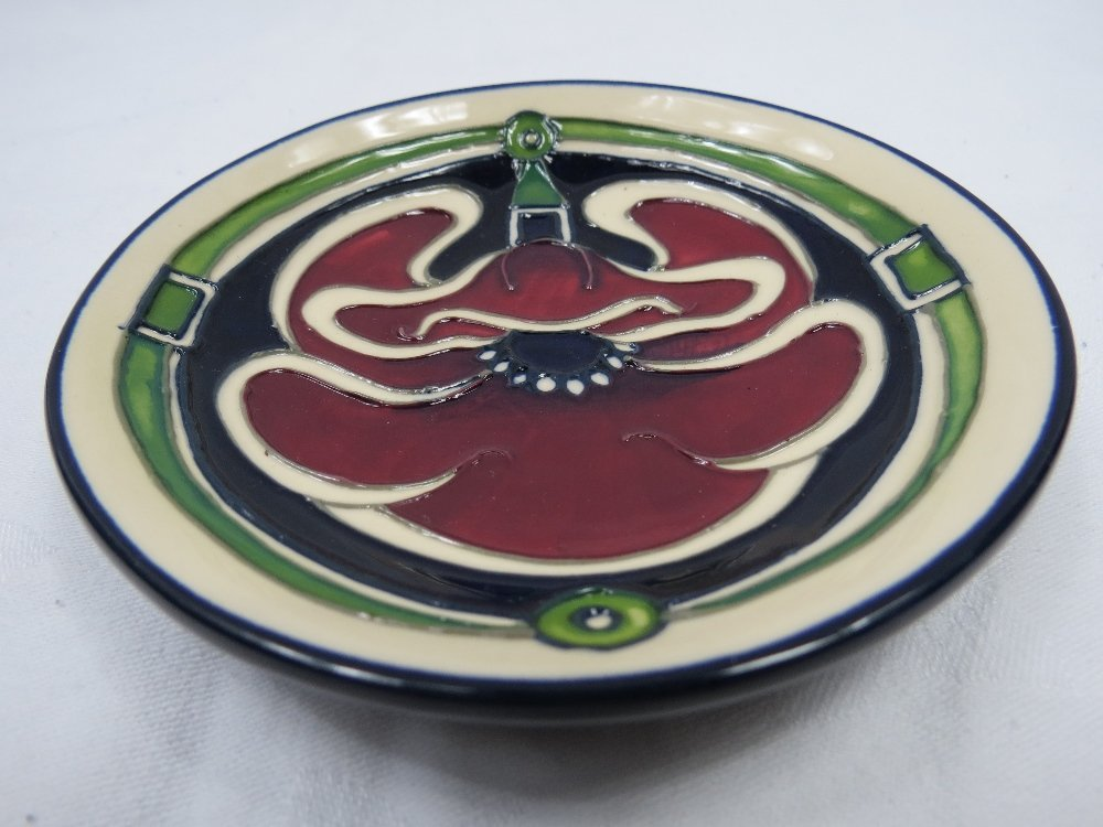 A Moorcroft coaster with petaldome design, dated 2012,