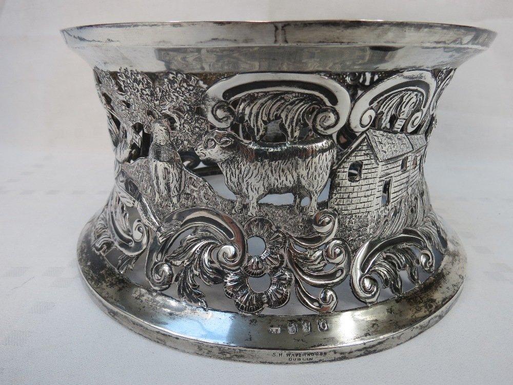 A superb Georgian style Irish HM silver dish ring