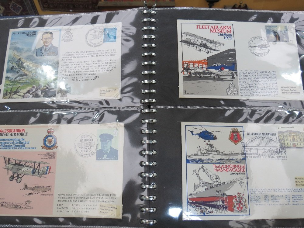 GB stamps 163 RAF Commemorative flight covers in three