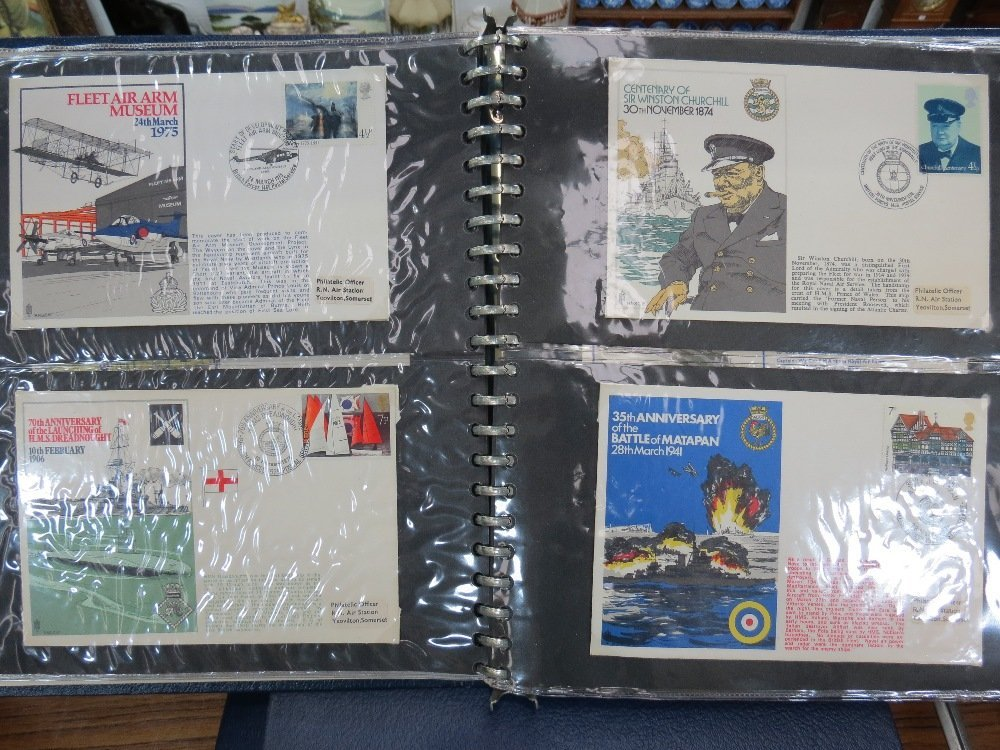GB stamps 113 RAF and Navy Commemorative covers in two