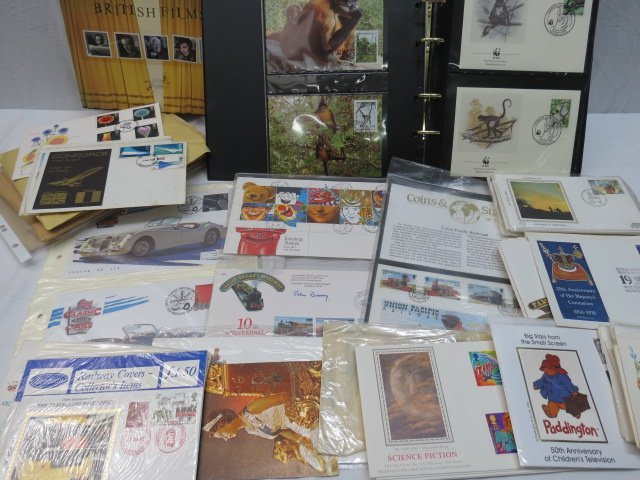 GB, WWF and world covers stamps in album and loose,