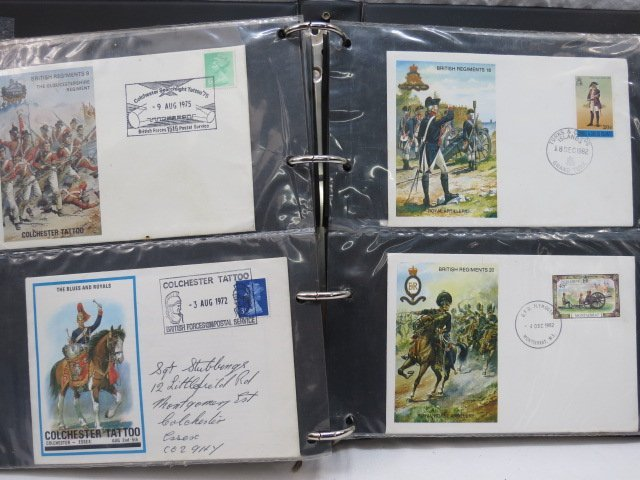 GB, army theme stamps, commemorative covers wit special