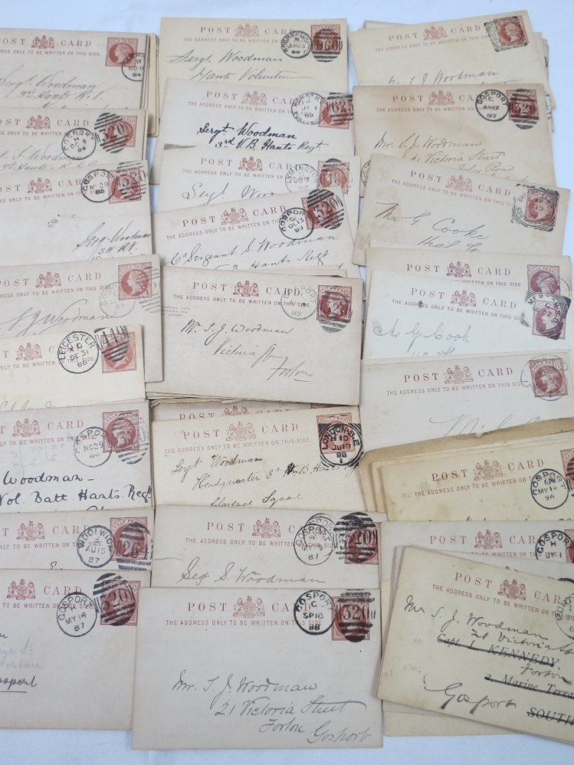 GB Queen Victoria 1/2d pre printed postcards from 3rd