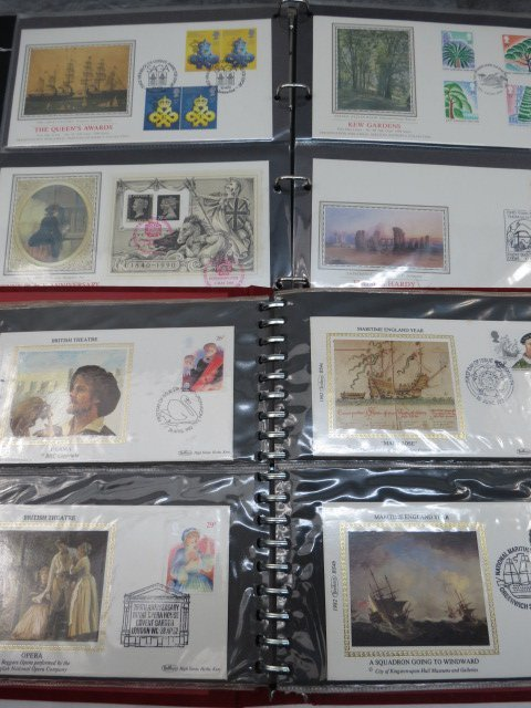 GB, Benham Silk, FDC stamps and cards, 144 in two