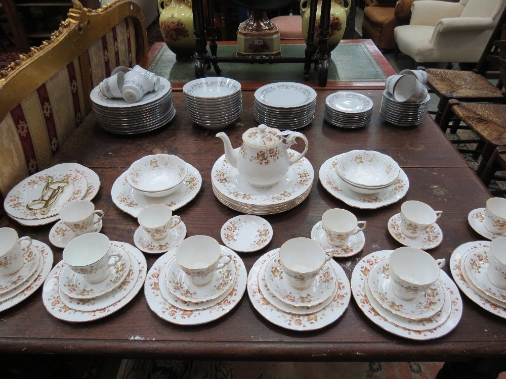 A part tea and dinner service by Colcough, decorated