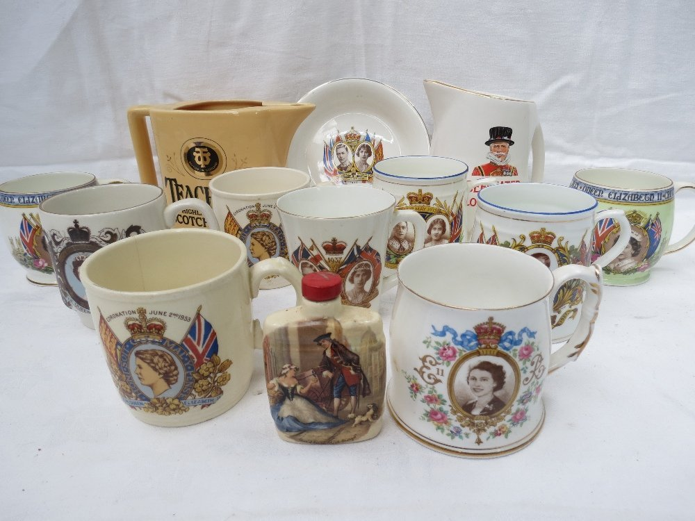 A collection of Royal commemorative mugs from Edward