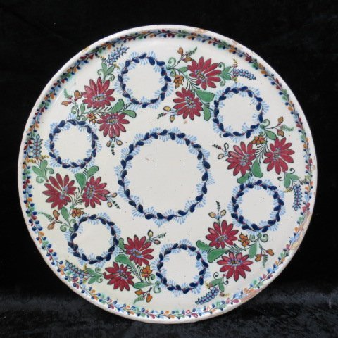 A Hungarian Judaic Passover Seder plate, of tri-glazed