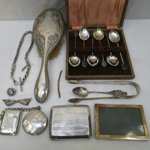 An HM silver William IV sugar bow in Queens pattern, a