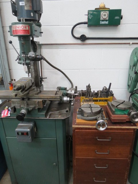 A Senior milling machine complete with large quantity