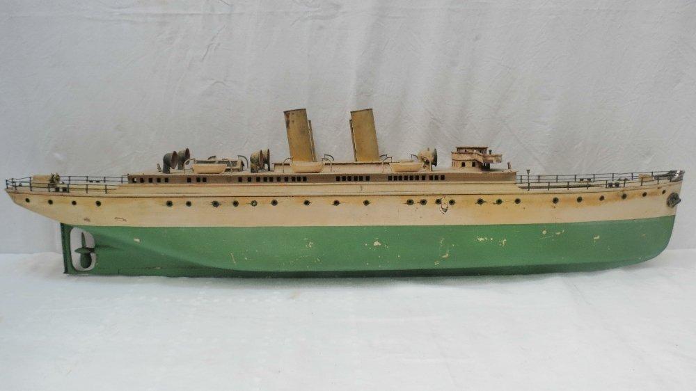 An Bassett-Lowke live steam two funnel passenger ship