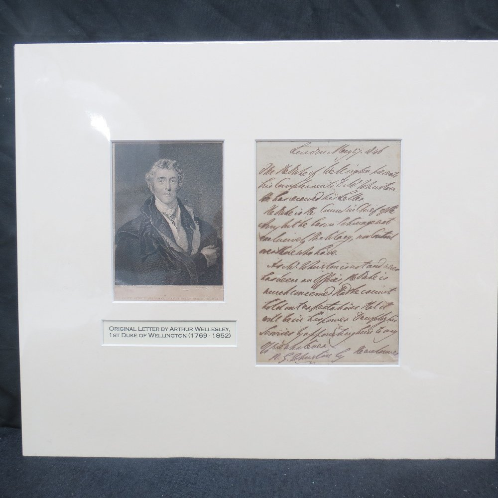 An interesting and original letter (18x11cm) from the