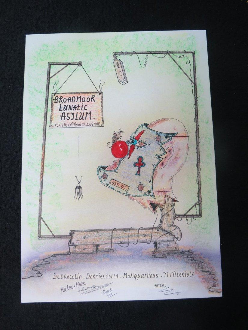 Charles Bronson. 'Broadmoor Lunatic Asylum' a cartoon