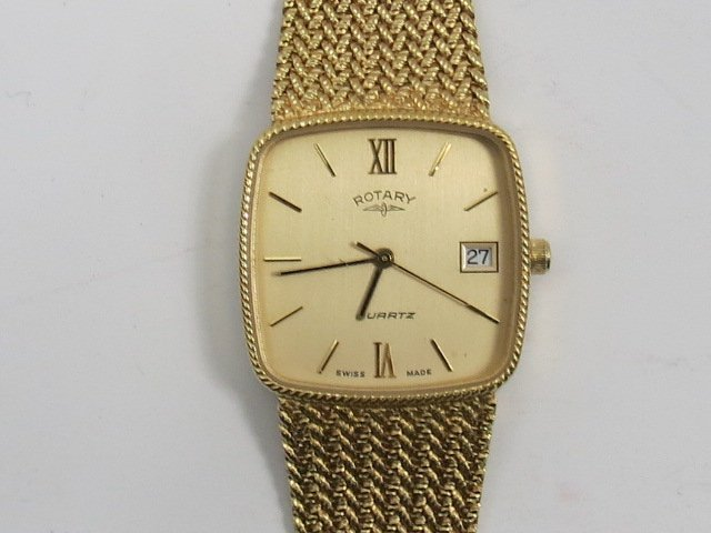 Ronnie Kray's Rotary quartz wristwatch with gold plated