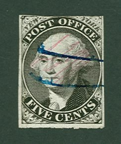 001: US Scott #9X1a, used, ave-fine