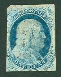 005: US Scott #9, Pos.8R1L, used