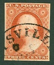 006: US Scott #10, orange brown