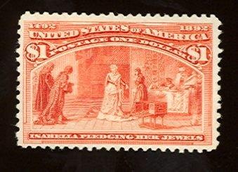 018: US Scott #241, unused, f-vf