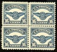 039: US Scott #C5, unused block 4