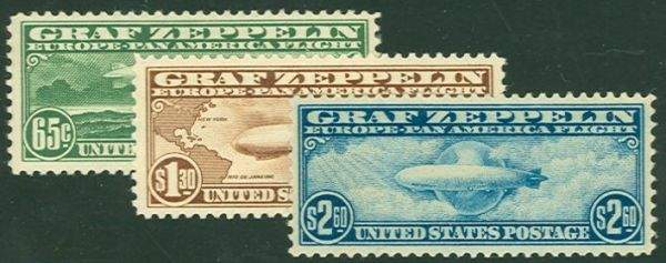 043: US Scott #C13-15, unused, vf