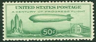 044: US Scott #C18, unused, vf