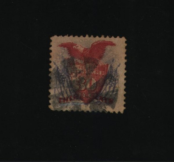 5: US Scott #121, used, F-VF