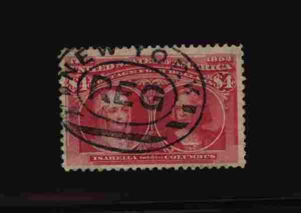 US Scott #244, used, F-VF