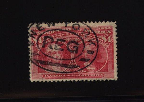 8: US Scott #244, used, F-VF