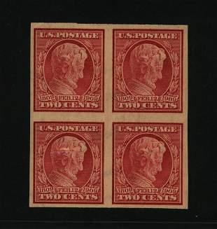 US Scott #368, unused block