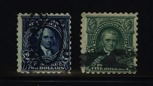 US Scott #479-480, used