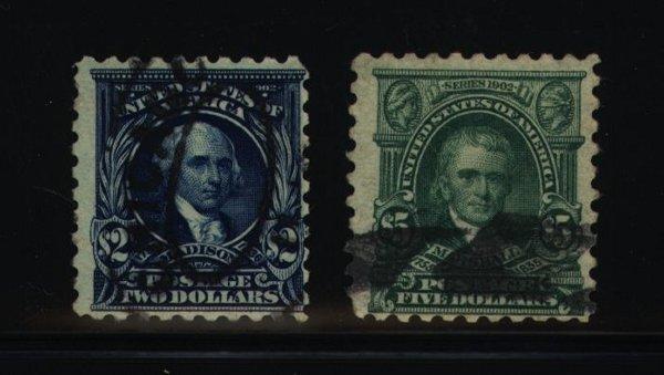 14: US Scott #479-480, used