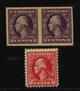 US Scott #484 pair and 526