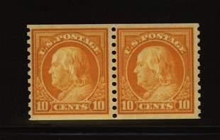 US Scott #497, unused pair