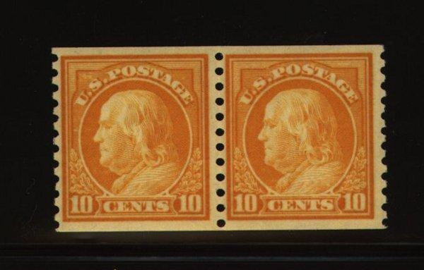 16: US Scott #497, unused pair