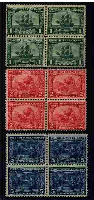 US Scott #548-550, unused blocks