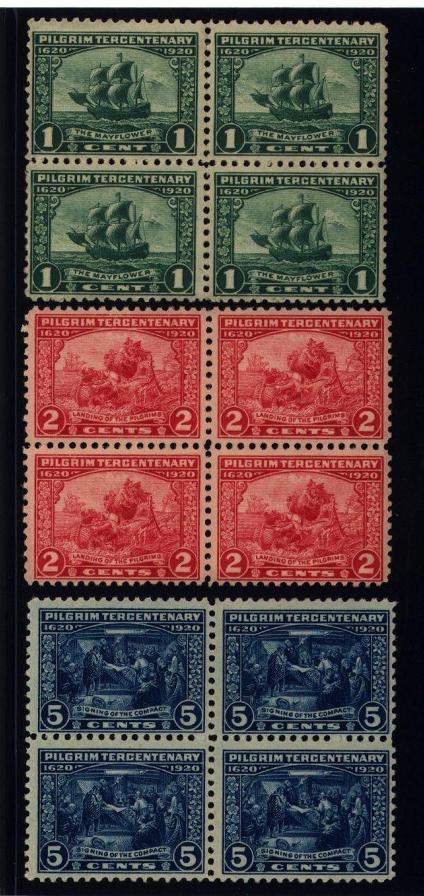 22: US Scott #548-550, unused blocks