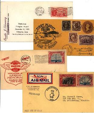 US airmail special event covers