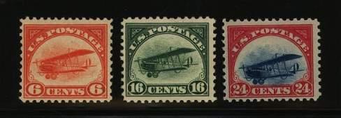 31: US Scott #C1-3, unused, NH