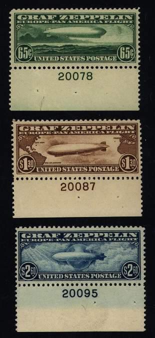 US Scott #C13-C15 Zeppelins