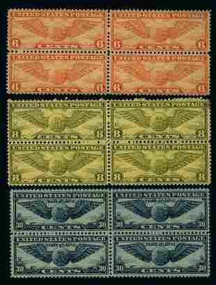 US Scott #C17, C19, C24 blocks