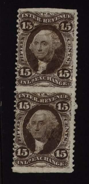 US Scott #R40b, part perf pair