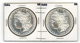 US 1886 and 1889 silver $s