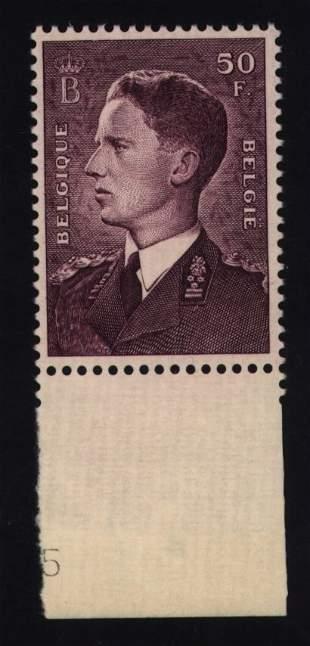 Belgium, Scott #449a, unused